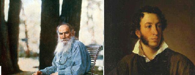 Lev Tolstoj & Alexander Poesjkin